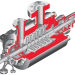 BP ISO 13709:API 610 (BB5) Diffuser Casing, Multistage, Process Barrel Pump