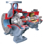 Durco Mark 3 ISO Recessed Impeller, Overhung, Chemical Process Pump