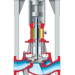 PVXM ISO 13709:API 610 (OH3) Vertical In-Line Overhung API Process Pump