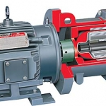 PolyChem M-Series Fluoropolymer Lined, Magnetic Drive, Overhung ASME Chemical Process Pump