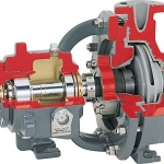 PolyChem S-Series Fluoropolymer Lined Overhung ISO Chemical Process Pump