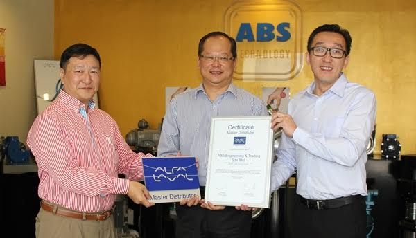 ABS Engineering appointed as Master Distributor by Alfa Laval South